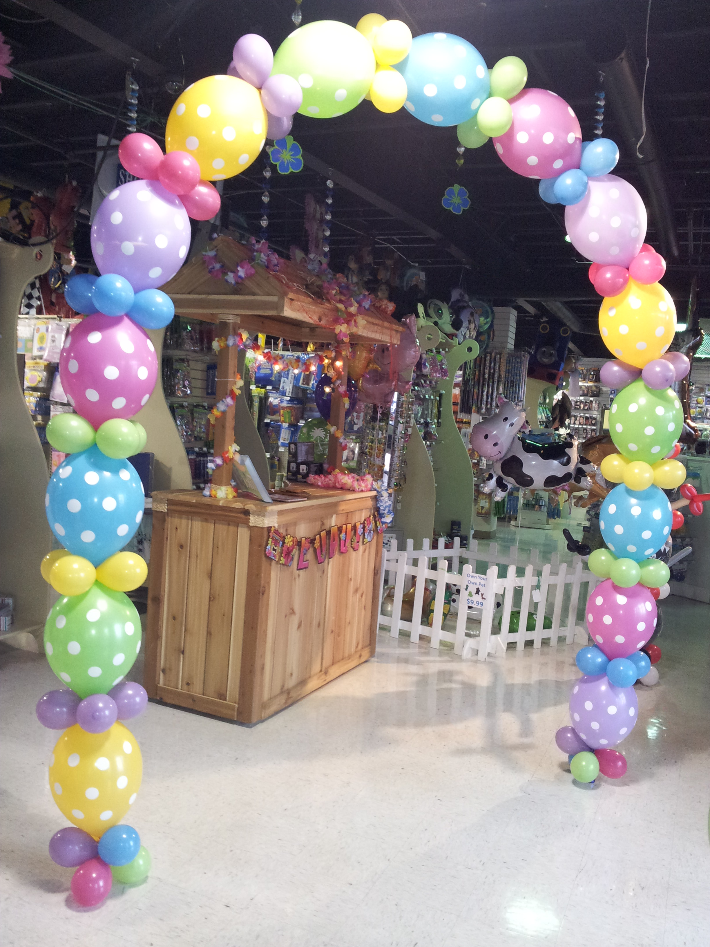 Glow the event store balloon structures and arrangements for Arch balloons decoration