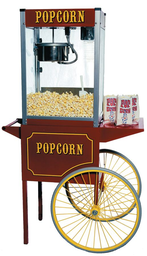 glow the event store popcorn cart with wheels glow the