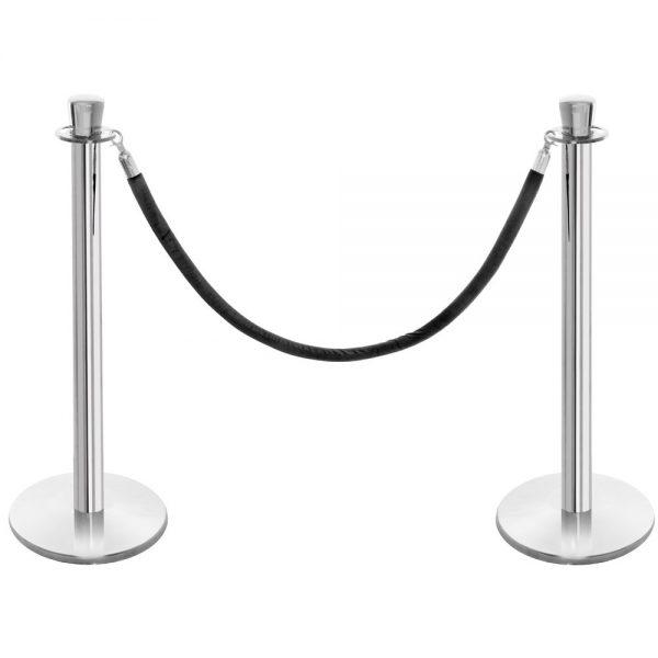 Velvet Rope Black & Stanchion