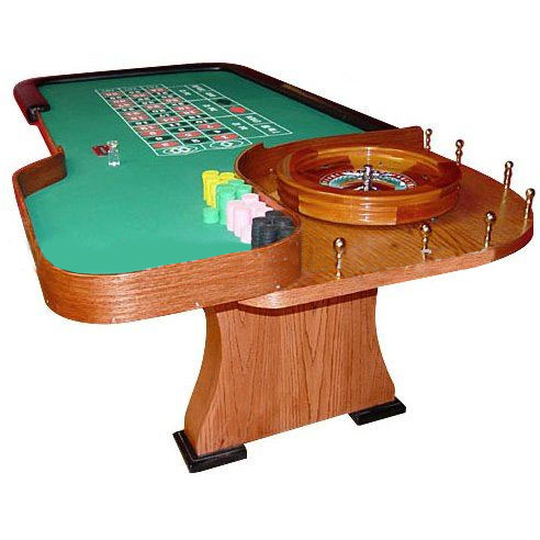 Roulette-Table-wooden Deluxe