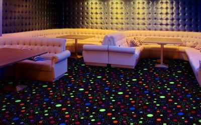 Black Light Carpet Tile