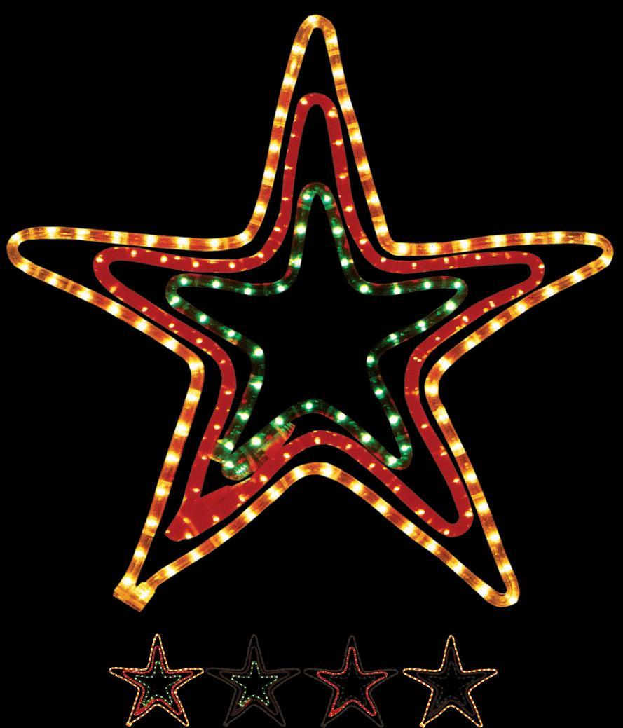 Tri Color Star