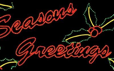 Seasons Greetings With Ribbon