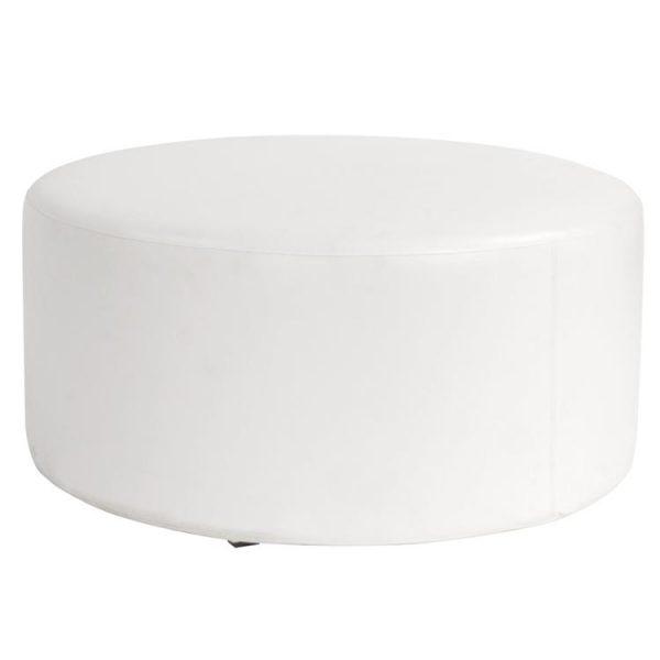 Universal Round Ottoman _ Atlantis White