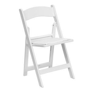 White Resin Chair wPadded Seat – 6