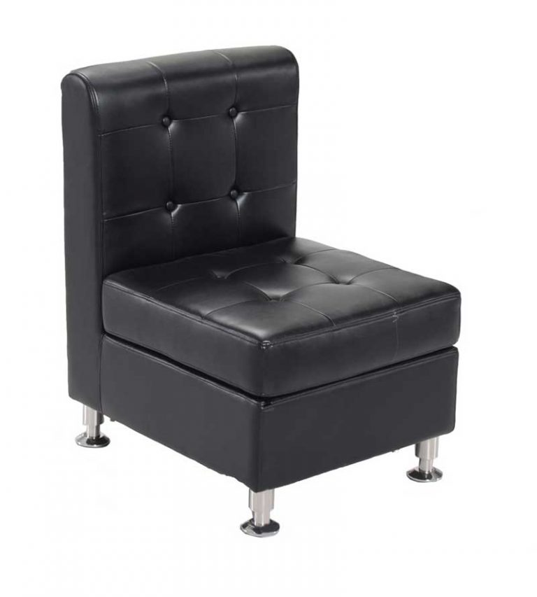 Armless Chair-Black $75.00