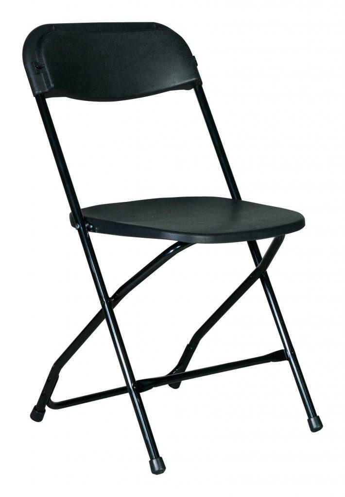 Black-Folding Resin chair $ 3.00