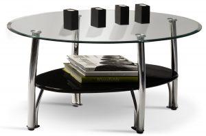 Coffee Table Glass Oval $50.00