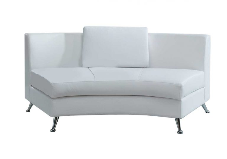 Sectional-white-leather-middle 71″l x 34.5′ x 17″ $150.00