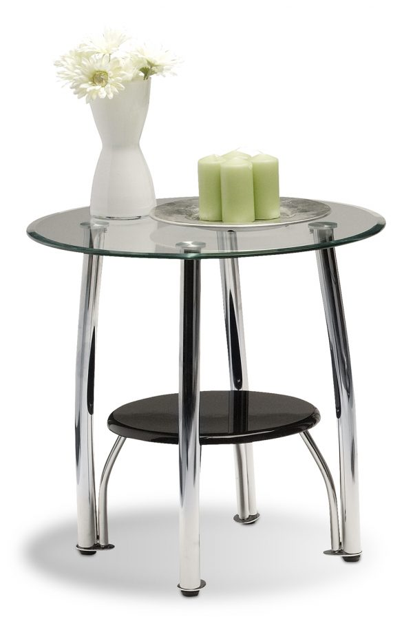Side Table Oval Glass $35.00