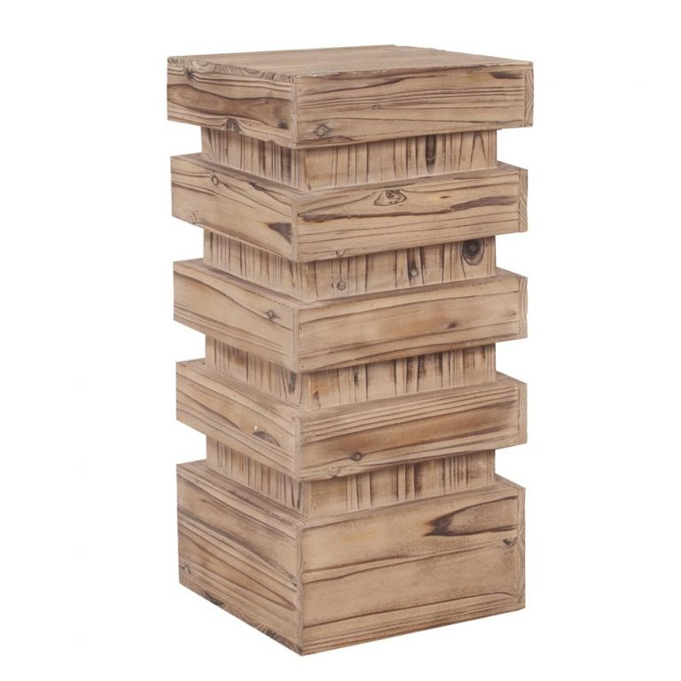 Stepped Natural Wood Pedestal Medium $40.00