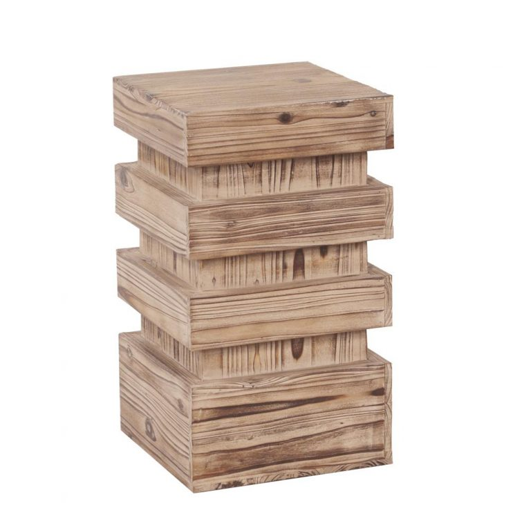 Stepped Natural Wood Pedestal small $30.00