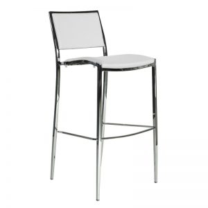 Stool – White Leather – 3