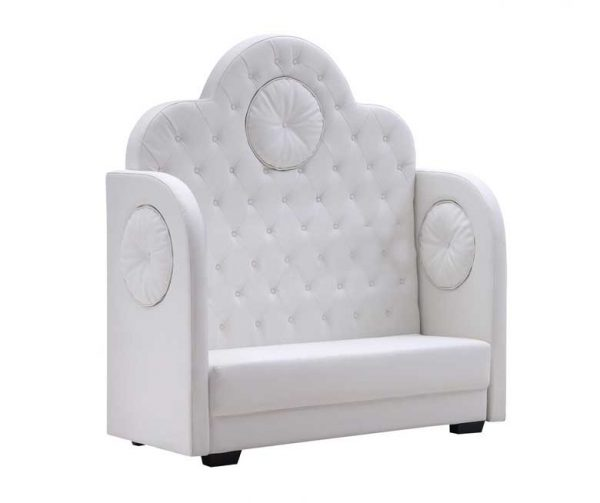 White Leather Banquette Crown Sofa $250.00