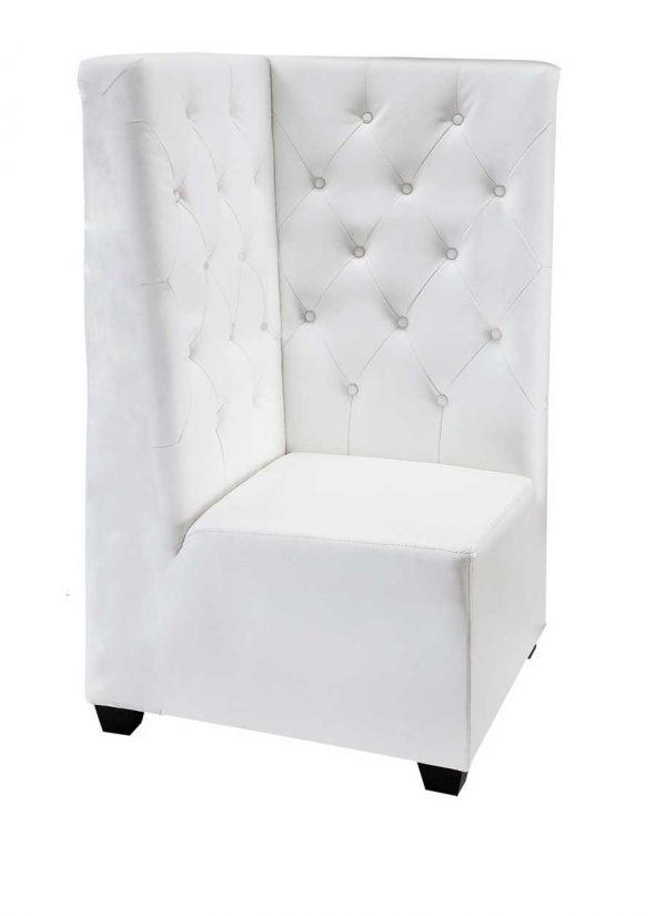 White Leather Sofa- Corner $125.00