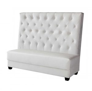 White Leather Tiara Sofa-center $150.00