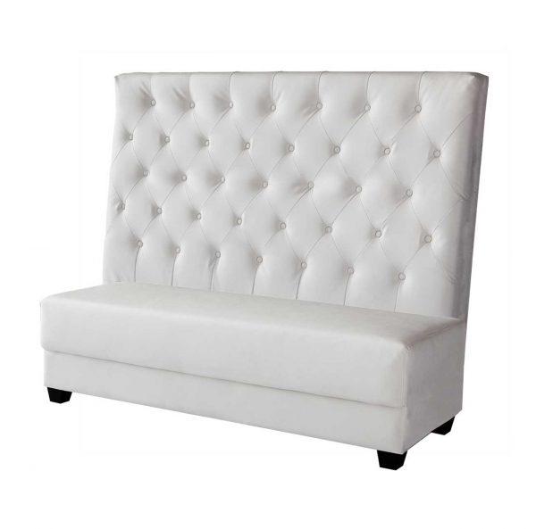White Leather Tiara Sofa-center $150.00