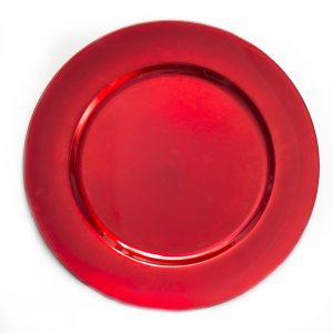 red-charger-plate $2.00