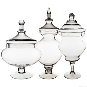 glass-apothecary-jars-set-of-3,-h-21.5,-15-,-16.25-31