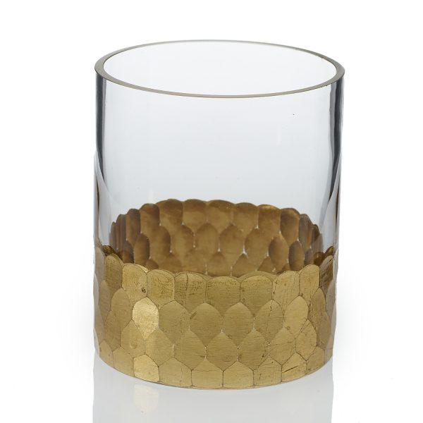 Elsa Cylinder Vase – Gold – 4 in