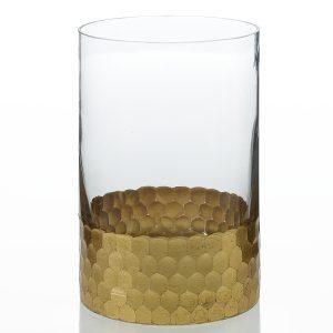 Elsa Cylinder Vase – Gold – 6 in