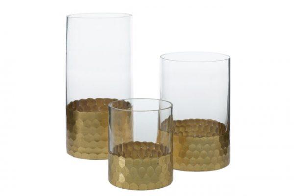 Elsa Cylinder Vase Trio – Gold