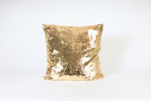 INV-1381-Pillow – Mermaid Reversible Sequins-Yellow Gold white