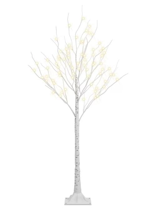 LED Birch Tree 6′