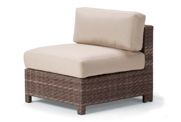 Wicker Armless Sectional