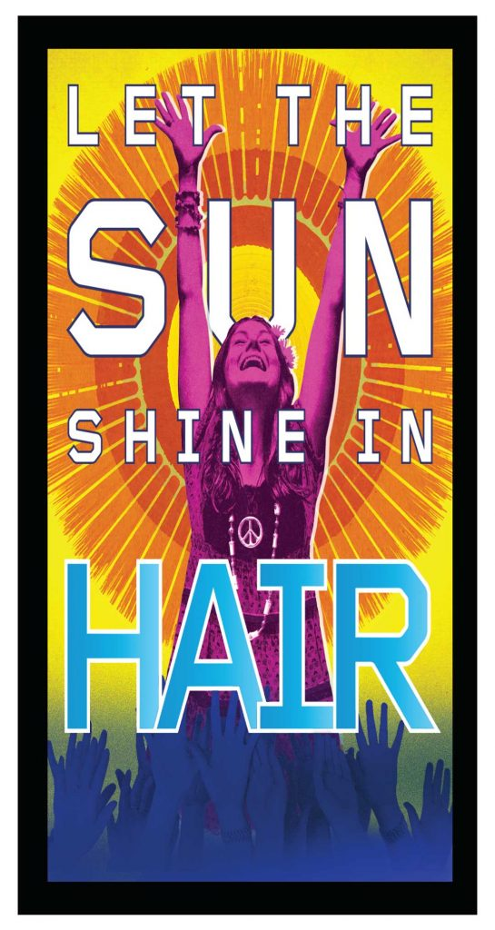 Hair Poster 4'x 8′ Decal on wood $275