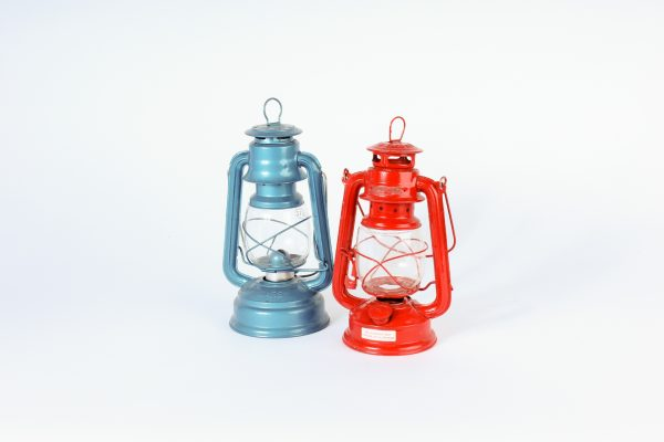 INV260-435-Blue and red metal lantern