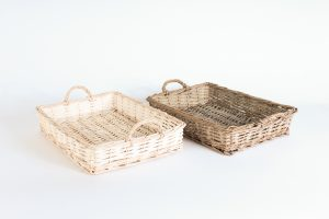 INV401-Woven basket serving trays
