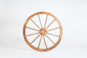 INV497-Wagon wheel- wood