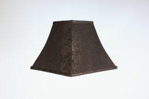INV540-Lampshade-Black damask