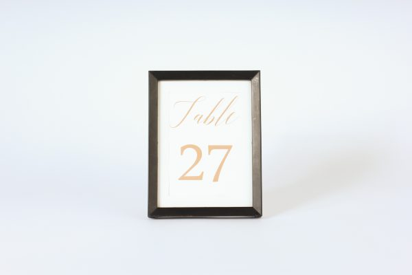 INV937-Black plastic table number frame Lg
