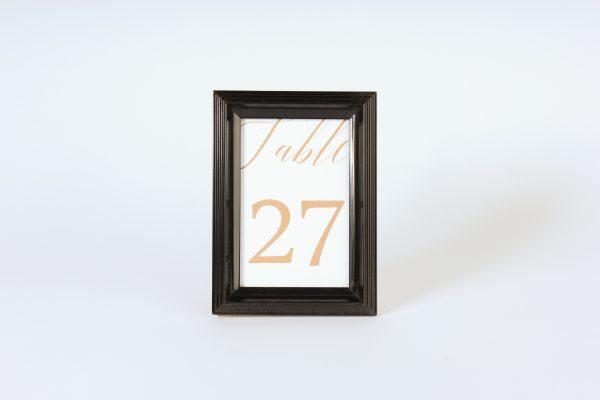 INV939-Black High Gloss ridged Table number frame
