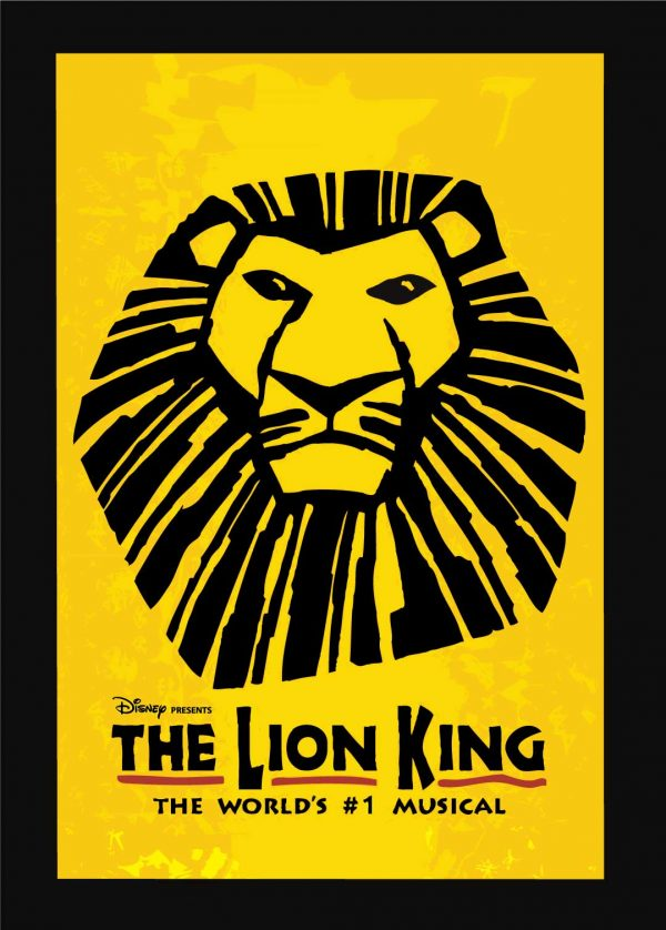 Lion King Poster 4'x 6′ Decal on wood $250