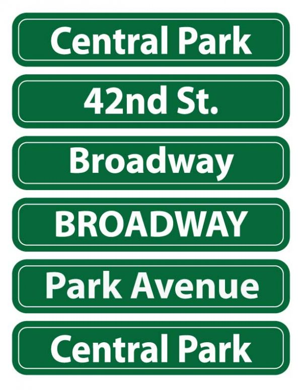 NYC-Street-Sign-set-of-six