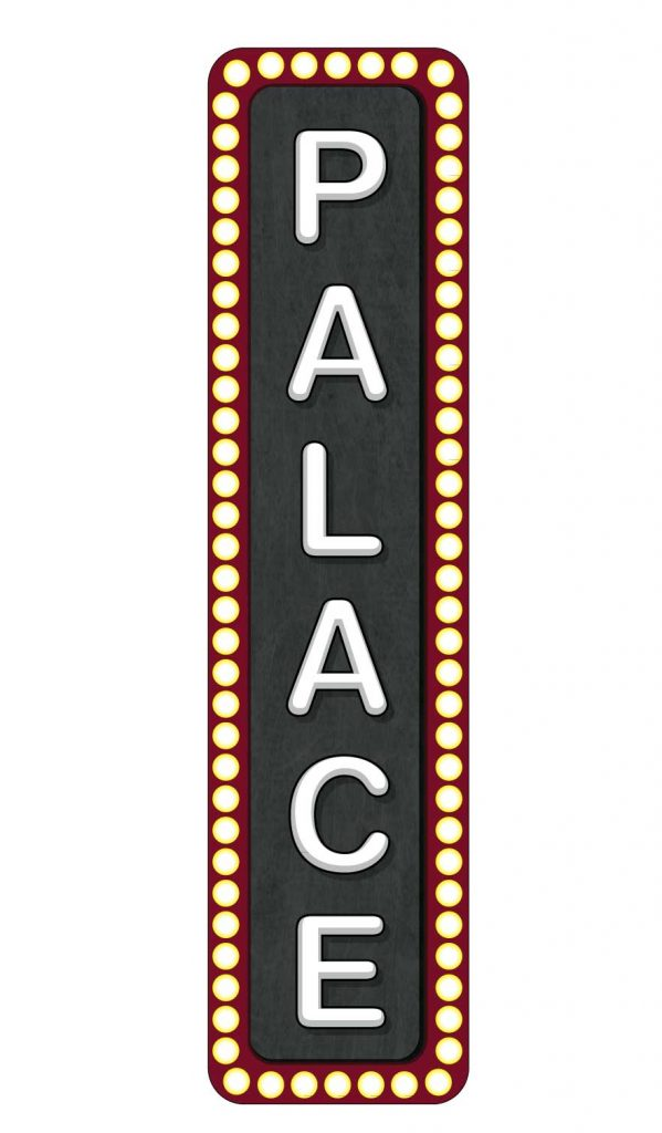 Palace Poster Decal on wood 24″ x 96″ $150