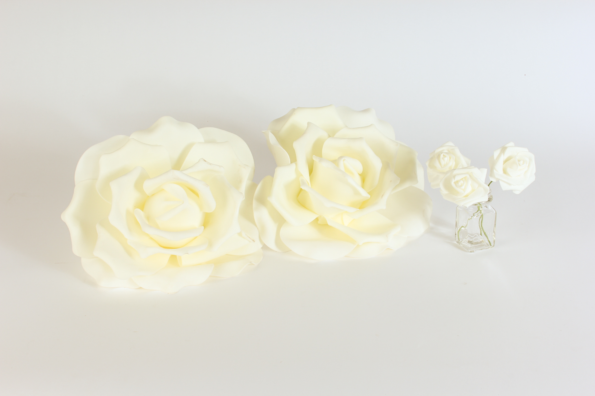 Glow the event store white foam flowers glow the event store white foam flowers mightylinksfo Images