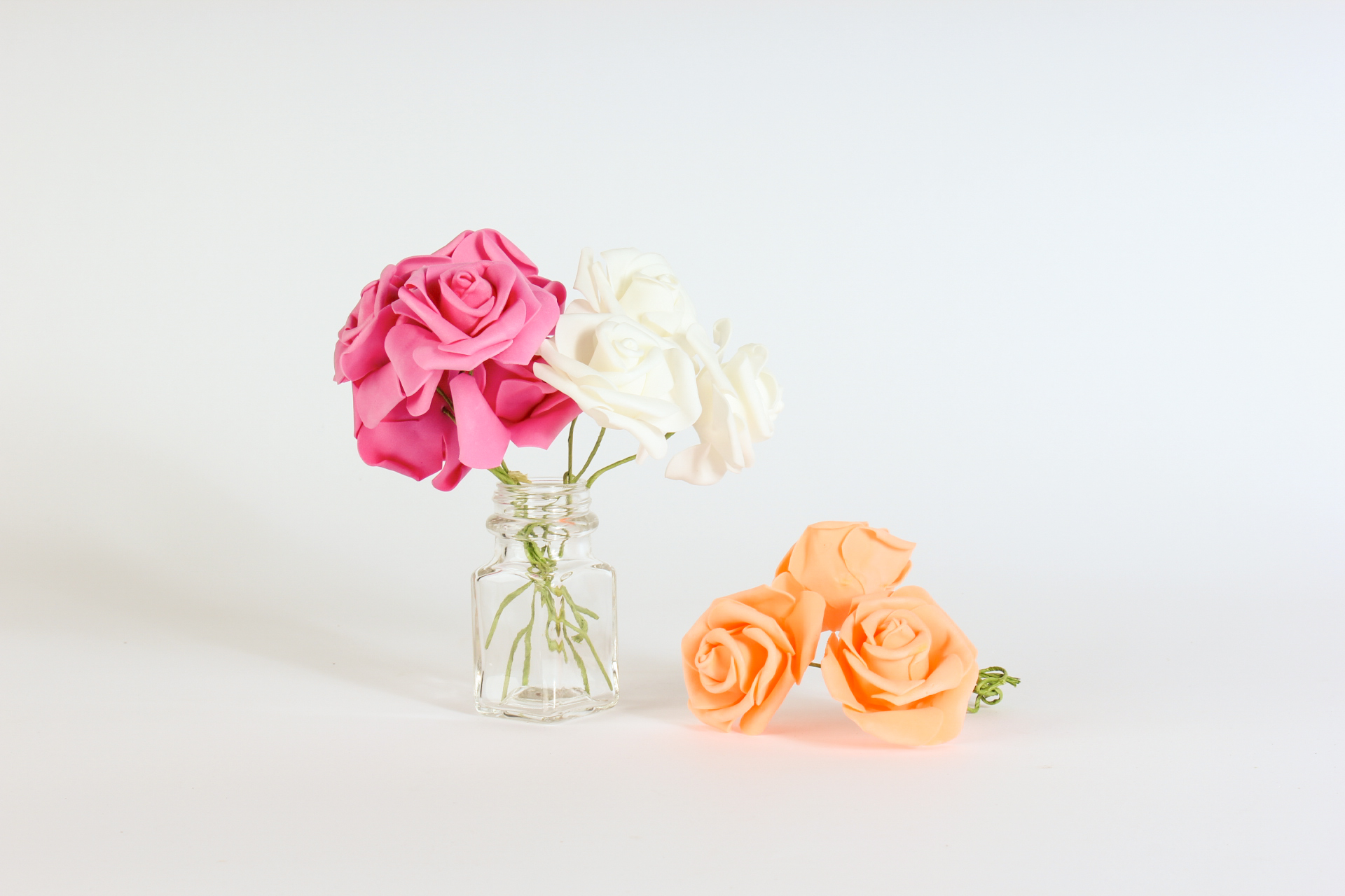 Glow The Event Store Foam Flowers White Pink Peach Small Glow