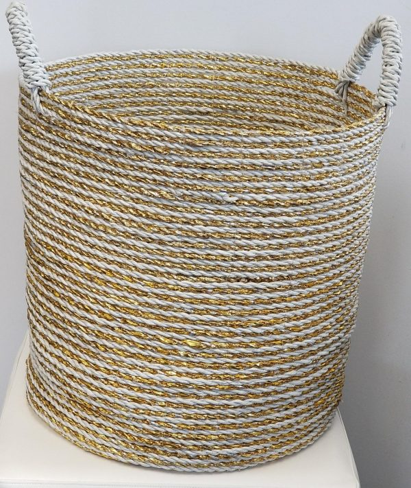 Gold and White Basket