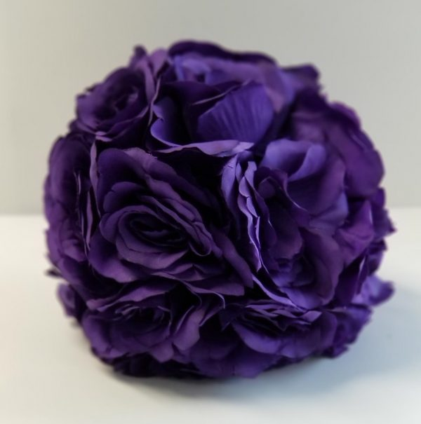 Purple Flower Ball 6 in