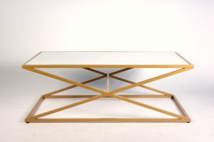 INV1383-Coffee-table–x-shaped-gold-frame-white
