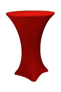 Spandex Cruiser Table Cover – Tall – Red