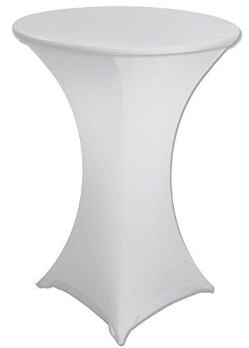 Spandex Cruiser Table Cover – Tall – White