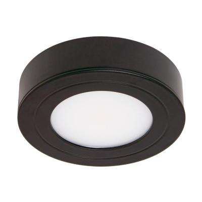 4 Black LED Puck