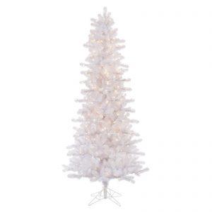 7 ft Crystal White Pencil xmas tree