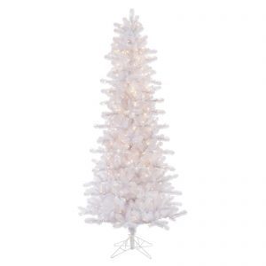 7 ft Crystal White Pencil xmas tree