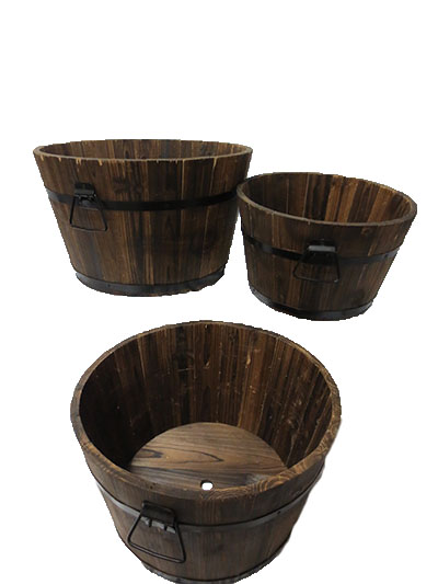 Wooden Apple Basket INV785